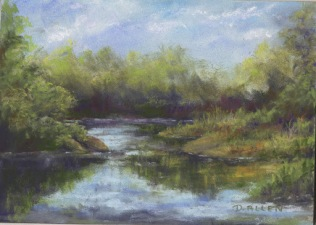 """Vermont River"" - pastel, 5"" x 7"""