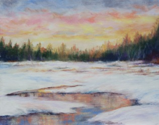 """Winter Wetland"" - pastel, 11"" x 14"""