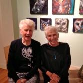 Rita & Toni attending Mia Meads opening